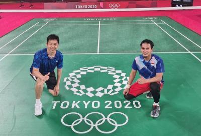 Mulus Bungkam Wakil Kanada, Ahsan Hendra Awali Olimpiade Tokyo 2020 dengan Manis