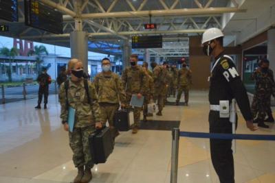 330 Tentara Amerika Tiba di SMB II Palembang dengan Prokes Ketat