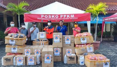 BNPB Kirim Masker dan Handsanitizer ke Posko PPKM Kepulauan Seribu