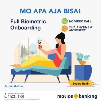 Resmi Terapkan Verifikasi Full Biometric, MotionBanking Bisa Proses Pembukaan Rekening 24 Jam!