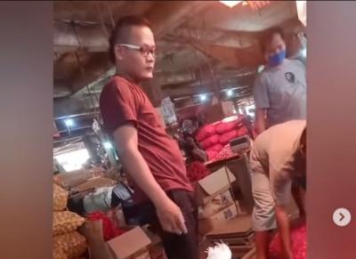 Viral Pria Mirip Sule di Pasar, Warganet: Bapaknya Rizky Febian