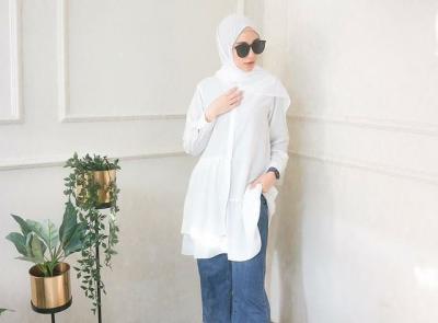 5 OOTD Tunik Cantik untuk Hijaber, Layer Sleeves hingga Earth Color