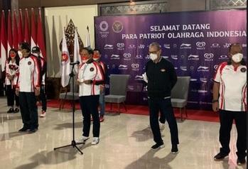 Kloter Pertama Atlet Indonesia di Olimpiade Tokyo 2020 Tiba di Tanah Air, Menpora Beri Sambutan bak Pahlawan