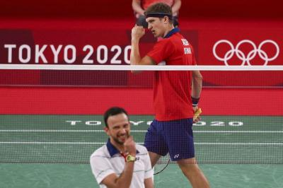 Hentikan Kejutan Kevin Cordon, Viktor Axelsen Lolos ke Final Bulu Tangkis Olimpiade Tokyo 2020