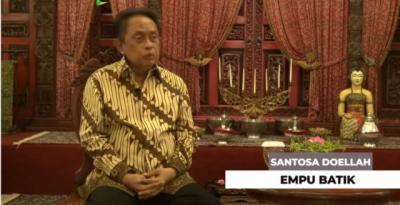 Profil Santosa Doellah, Legenda Batik Sekaligus Pendiri Danar Hadi Solo