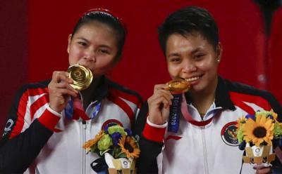 Greysia-Apriyani Raih Medali Emas Olimpiade Tokyo, Sri Mulyani: Hadiah Indah bagi Kemerdekaan Indonesia ke-76