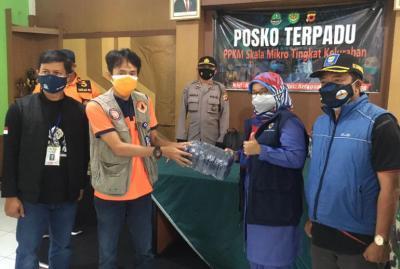 Optimalisasi Posko PPKM Jabar, BNPB Kembali Distribusikan 134 Ribu Masker