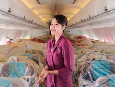Curhat Pramugari Sisi Asih Berpose dalam Pesawat Kosong, Warganet: Sedih Lihat Kursinya