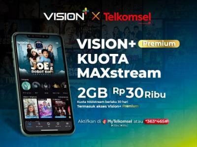 Vision+ x Telkomsel Hadirkan Paket Bundling dengan Kuota MAXstream, Jauh Lebih Hemat