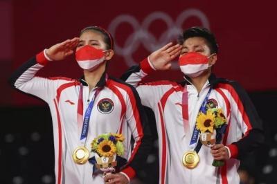 Greysia Polii Apriyani Rahayu Raih Emas Olimpiade, Ucapan Alhamdulillah Ya Allah Jadi Trending 1