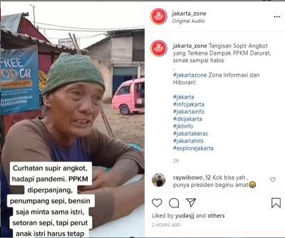 Viral Video Jeritan Hati Sopir Angkot: Bensin Saja Minta Sama Istri!