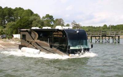 Motorhome RV Amfibi dengan Suasana Seperti Hotel, Bisa Berjalan di Aspal dan Air