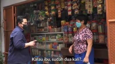 Cerita Erick Thohir Kagum dengan Ibu Penjual Warung