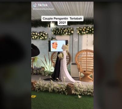 Menikah Virtual Gegara Pengantin Pria Terpapar Covid-19, Pasangan Ini Dijuluki Couple Tertabah 2021