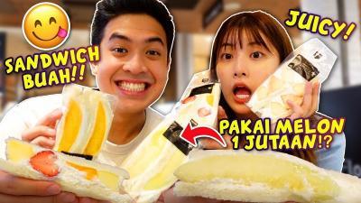 Jerome Polin Cicipi Lezatnya Sandwich Buah Khas Jepang