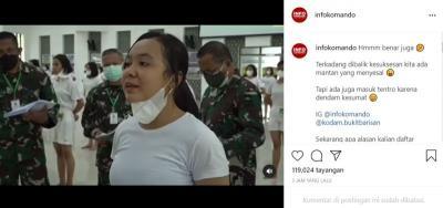 Ditanya Alasan Masuk Tentara, Perempuan Cantik: Di Balik Kesuksesan Ada Mantan yang Menyesal
