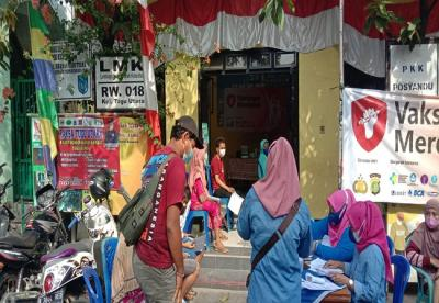 Polsek Koja Jakarta Utara Buka 43 Gerai Vaksin, 6.147 Warga Sudah Divaksinasi Sinovac