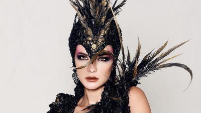 4 Tampilan Luna Maya dengan Makeup Tebal, Bikin Pangling!