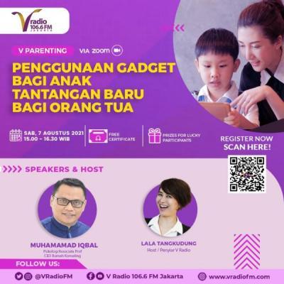 Besok Sabtu V Radio Gelar Webinar Solusi Anak Kecanduan Gadget, Daftar di Sini!