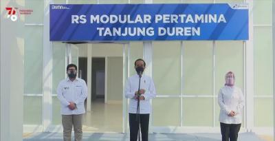 Tinjau RS Modular Pertamina Tanjung Duren, Jokowi: Fasilitasnya Komplet