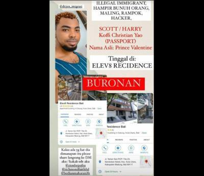 Kronologi Pria Nigeria Peras hingga Ancam Bunuh Mantan Pacarnya di Bali