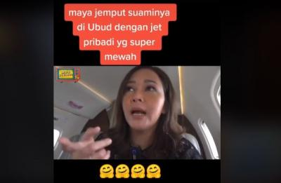 Maia Estianty Jemput Suami ke Bali Naik Jet Pribadi, Netizen: Bolak Balik Bisa Beli City Car