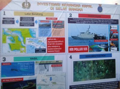 Penemuan Bangkai Kapal Tenggelam 13 Tahun Lalu di Selat Bangka, Berikut 5 Faktanya