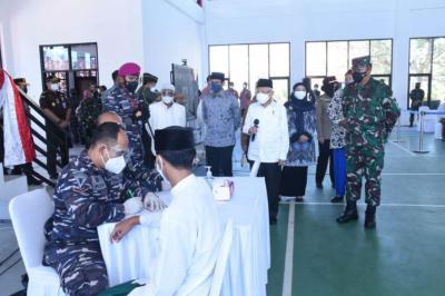 Dampingi Wapres, KSAL: Serbuan Vaksinasi Sasar ke Pelajar dan Guru