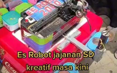 Viral, Mesin Printer Rusak Diubah Jadi Es Robot