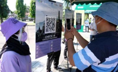 Borobudur Gelar Simulasi Pembukaan Pakai Aplikasi PeduliLindungi