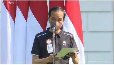 Sambut Atlet Paralimpiade Tokyo 2020 di Istana, Presiden Jokowi Serahkan Bonus