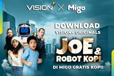 Gratis Kopi! Unduh Vision+ Originals Joe & Robot Kopi di Migo, Ini Caranya