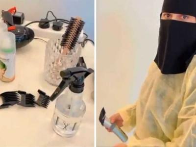 Viral Wanita Tukang Cukur Pertama di Arab Saudi