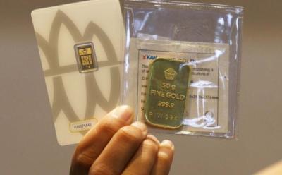 Emas Antam Turun Seribu Jadi Rp917.000 Gram