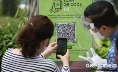 Pintu Masuk Pantai Legian Dipasangi Barcode, Wisatawan Jangan Lupa Scan Dulu