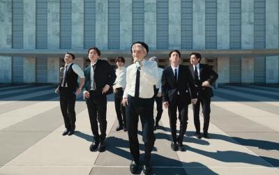 Bikin ARMY Bangga, BTS Bawakan Lagu Permission to Dance di Markas PBB