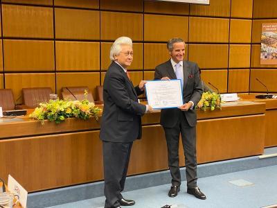 RI Raih Penghargaan dari Badan Pangan dan Badan Atom Dunia