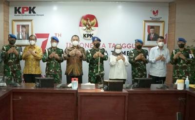 KPK-Puspom TNI Bahas Kerja Sama Penanganan Perkara Korupsi