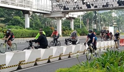Dishub DKI: Jalur Sepeda Hanya Boleh Dilintasi Bike to Work dan Penyandang Disabilitas