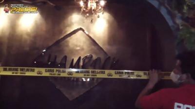 Ditegur Berkali-kali, Kafe dan Bar Langgar Prokes di Jaksel Dipasang Garis Polisi