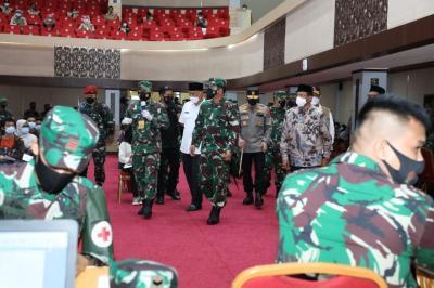 Panglima TNI : Cegah Penyebaran Covid-19, Prokes dan Vaksinasi Sangat Penting