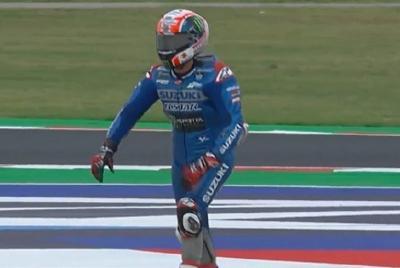 Gagal Finis Usai Jatuh di MotoGP San Marino 2021, Alex Rins Kecewa Berat