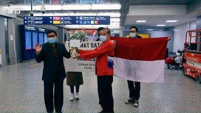 Sampai di Finlandia, Tim Indonesia Langsung Disambut KBRI