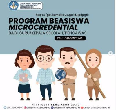 Kemendikbudristek Buka Pendaftaran Beasiswa Microcredential untuk Guru hingga Pengawas Sekolah