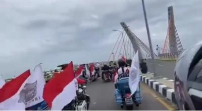 Viral Rombongan Moge Melintasi Jembatan yang Belum Diresmikan, Netizen: Uang Berbicara