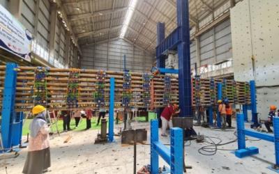 Intip Pembangunan Tol dari Bambu