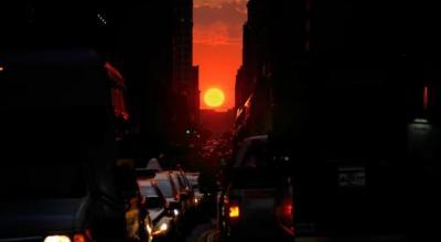 Menakjubkan! Langit Kota Ini Berwarna Oranye, Kok Bisa?