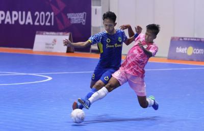 Juara Bertahan Tim Futsal Jawa Barat Tumbangkan Banten 4-2 di PON XX Papua