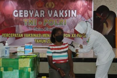 Pembukaan PON XX Semakin Dekat, Kodam XVII Cenderawasih Gencarkan Vaksinasi Covid-19