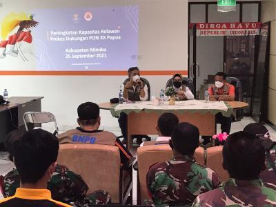 Satgas Prokes dan Relawan Perkuat Kedisplinan Masyarakat Jelang PON XX Papua di Mimika